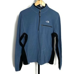 The North Face Blue Fleece 1/4th Zip Sweater